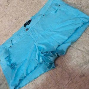 Baby blue shorts